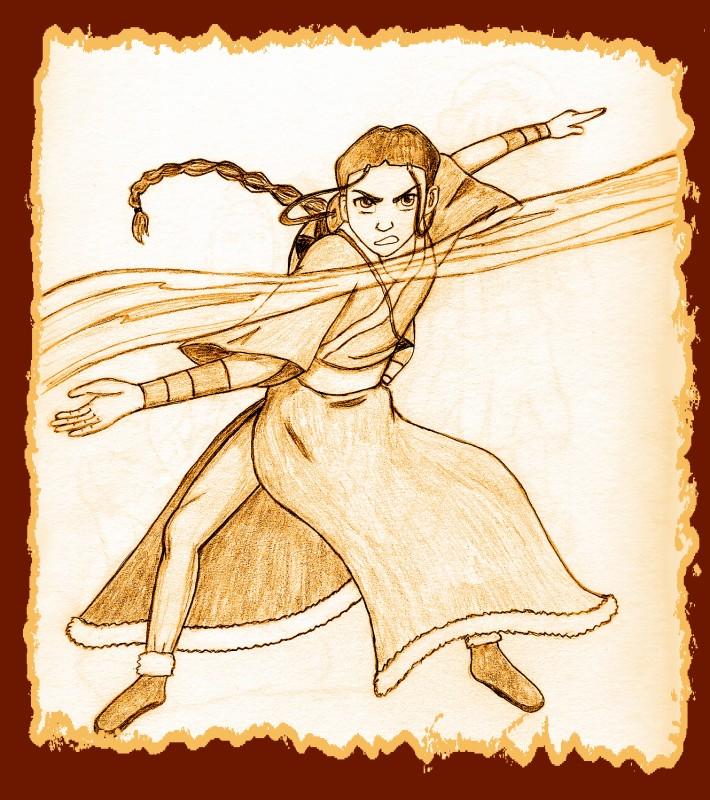 """Katara """"tea stain"""" sketch by BSG"""