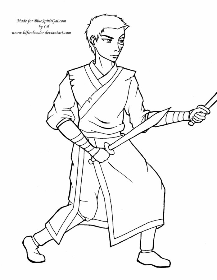 Coloring Pages  Blue Spirit Gal