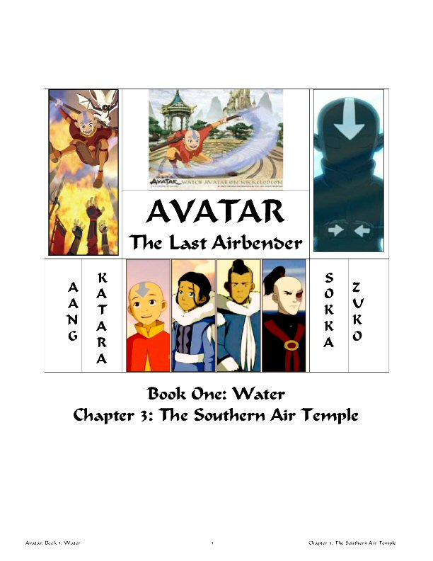 Southern Air Temple Comic Novel